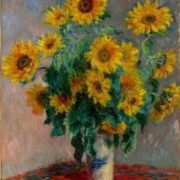 Bouquet of Sunflowers, 1880. Claude Monet