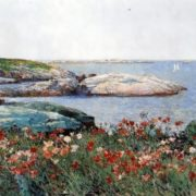 Childe Hassam. Poppies on sandy islands, 1891