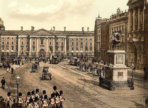 College Green, Dublin.County Dublin, Ireland. between ca. 1890 and ca. 1900