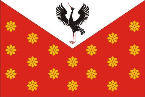 Crane on the flag