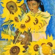 Diego Rivera. Muchacha con Girasoles (Girl with Sunflowers)