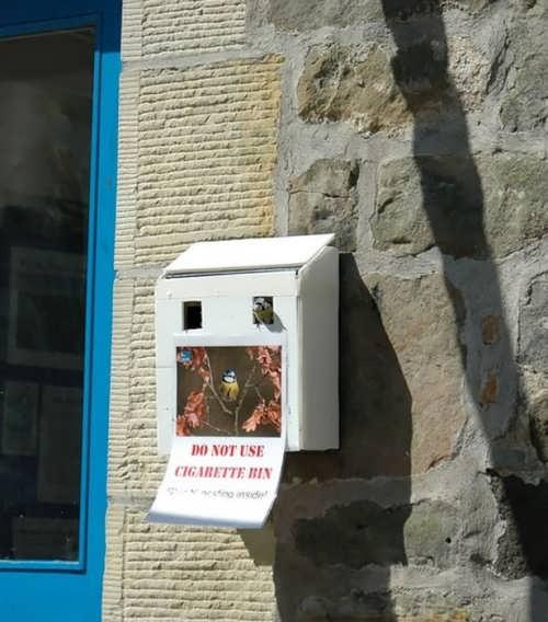 Do not use cigarette bin