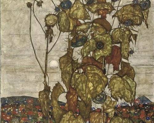 Egon Schiele. Faded sunflowers