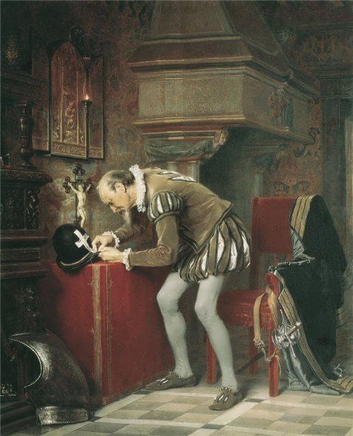 Karl Jacob Huhn. Eve of St. Bartholomew's Day. 1868