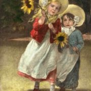 Girls With Sunflowers. F. A. Kaulbach