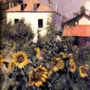 Gustave Caillebotte. Sunflowers Garden At Petit Gennevilliers