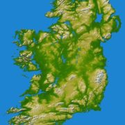 Ireland on the map