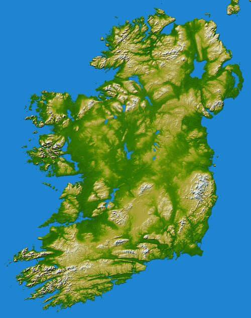 Ireland on the map