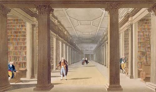 James Malton.College Library, Dublin, 1793