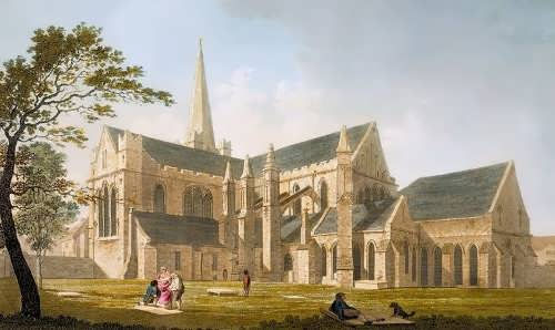 James Malton.Saint Patrick's Cathedral, Dublin, 1793