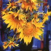 Nicolai Fechin. Sunflowers, 1934