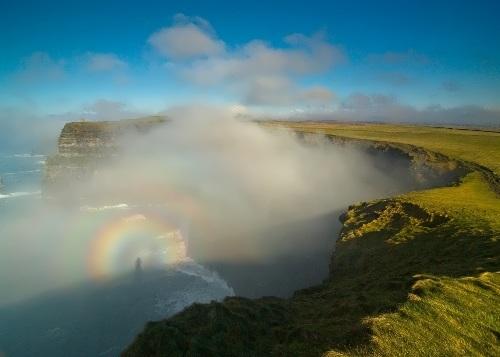 Rainbow near the Cliffs of Moher on the Atlantic coast