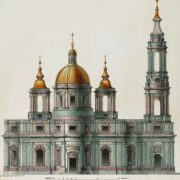 Saint Isaac's Cathedral. Project of A. Rinaldi. Engraving by K. Sabat