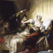 Scene in the bedroom of Marguerite de Valois