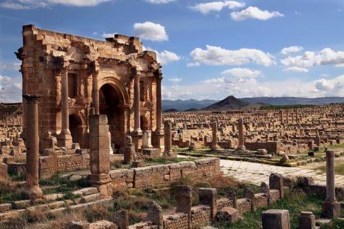 The ancient Roman city of Timgad
