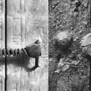 The front door of the tomb was sealed