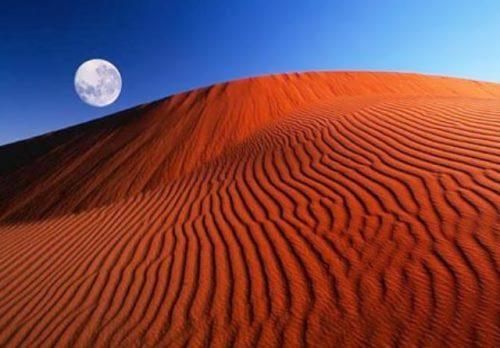 Unique red desert