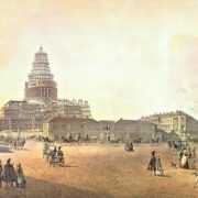 V. Sadovnikov. View of St. Isaacs Cathedral and the square. 1840