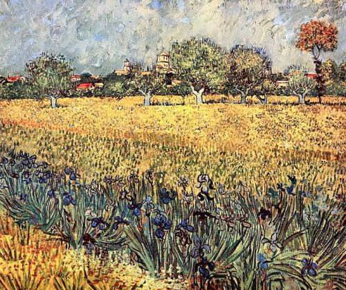 Vincent Van Gogh - View of Arles with Irises, 1888