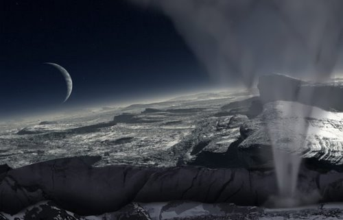 Volcanoes and geysers of Pluto