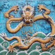 Wonderful dragon on the wall