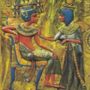 Young pharaoh and his wife
