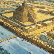 Ziggurat - a multi-stage construction in the center of Babylon