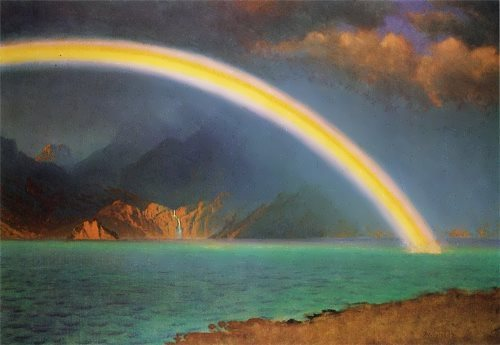 Albert Bierstadt. Rainbow over Jenny Lake, Wyoming