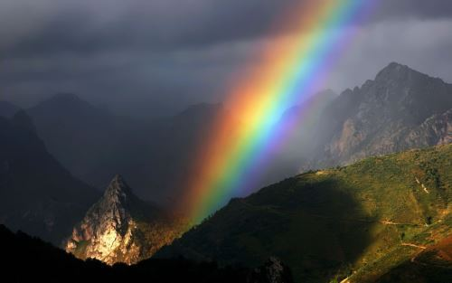 Attractive rainbow