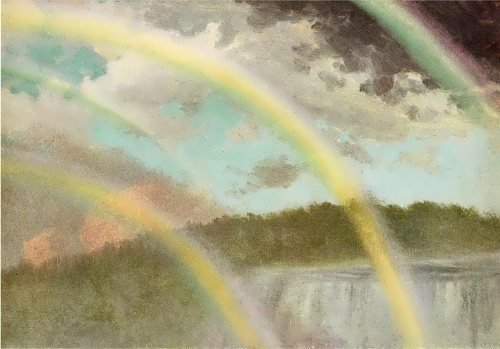 Bierstadt Albert. Four Rainbows over Niagara Falls