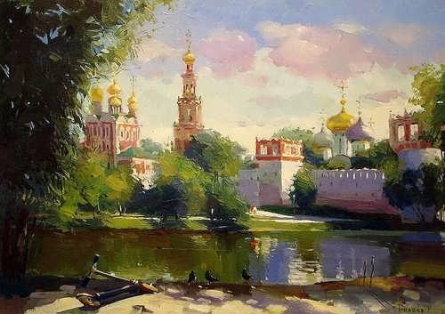 Bilyaev Roman. Summer day. Novodevichy Convent