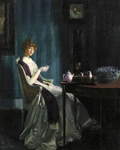 Charles Bittinger, Afternoon Tea, 1912