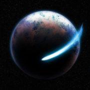 Comet around planet