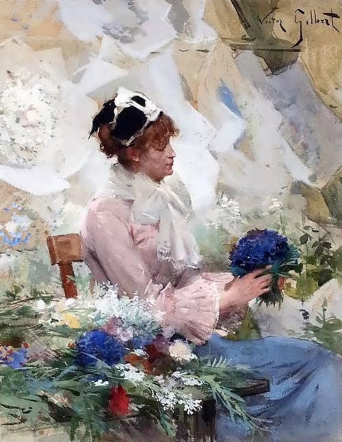 Gabriel Gilbert. Flowers seller