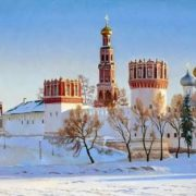 Gaifullin Airat. Novodevichy in winter