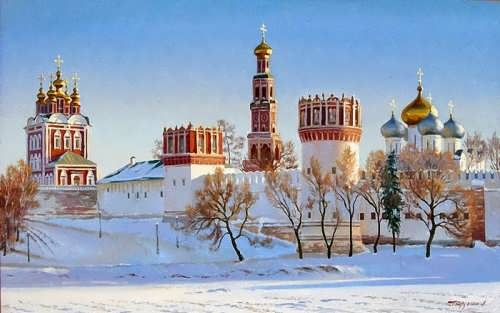 Gaifullin Airat. Novodevichy in winter
