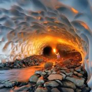 Glacial caves in Russia