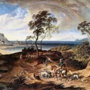 Joseph Anton Koch. Landschaft nach einem Sturm. 1830