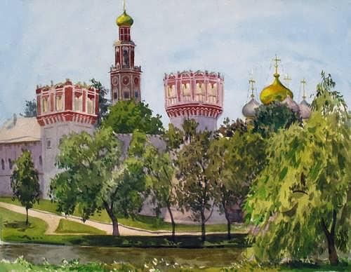 Kiryanova Victoria. Sunny day. Novodevichy Convent