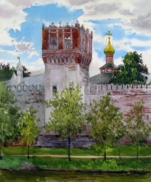 Kiryanova Victoria. Tower of the Novodevichy Convent