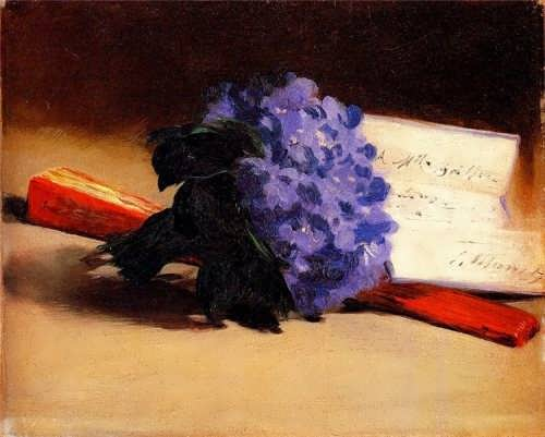 Manet Edouard. Bouquet Of Violets