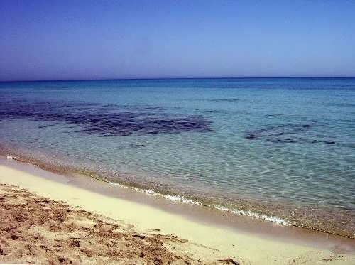 Mediterranean Sea off the Libyan coast in the summer