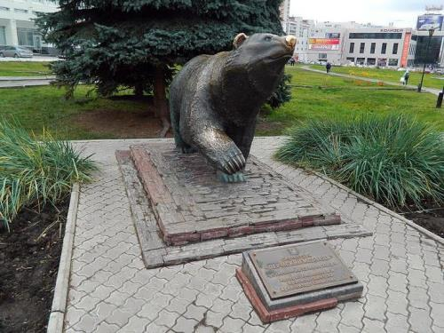 Monument to bear in Perm