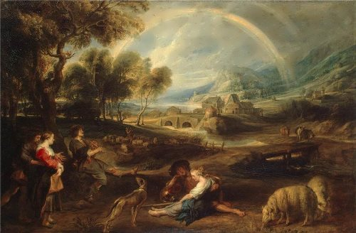 Peter Paul Rubens. Landscape with a Rainbow, 1632-35
