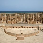 Photo of the ancient theater in Leptis Magna