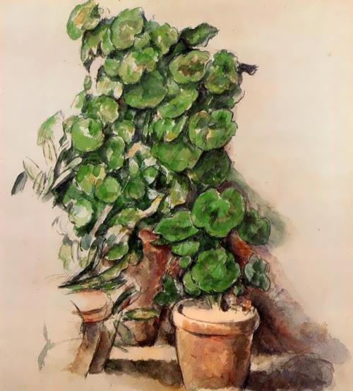 Pots Of Geraniums. Paul Cezanne, 1888