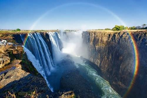 Rainbow above the Victoria Falls