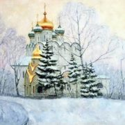 Razzhivin Igor. Novodevichy monastery under the snow
