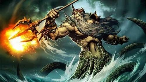 Roman god Neptune