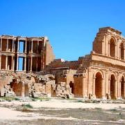 Roman theater in the ancient city of Sabratha